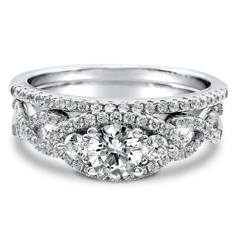 silver 3 woven engagement ring made with swarovski zirconia 1 025 ct ebay