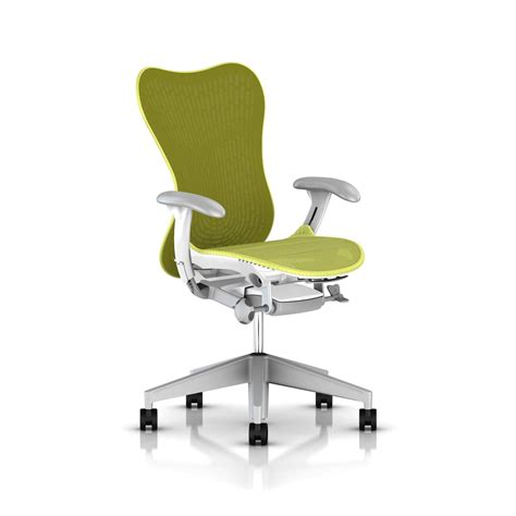 herman miller lime green mirra 2 chair office furniture