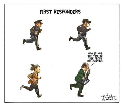 First Responders Now Is Not The Time To Talk About Gun