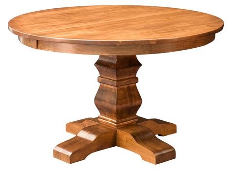 solid wood round dining table amish round pedestal dining table solid wood rustic