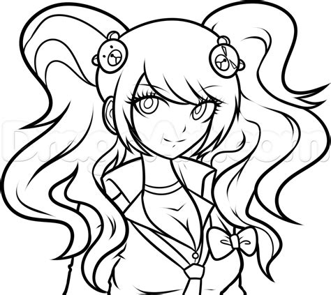 How To Draw Junko, Junko Enoshima, Step By Step, Anime