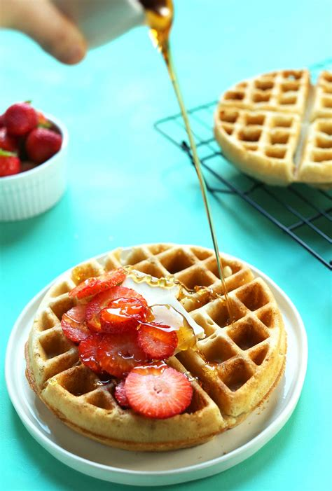 the best vegan gluten free waffles minimalist baker recipes