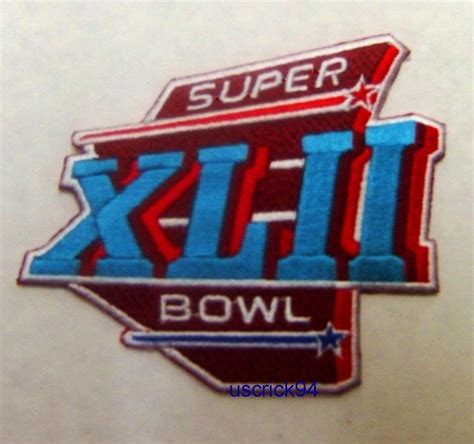 Super Bowl Superbowl 42 Xlii Patch New York Giants Vs New