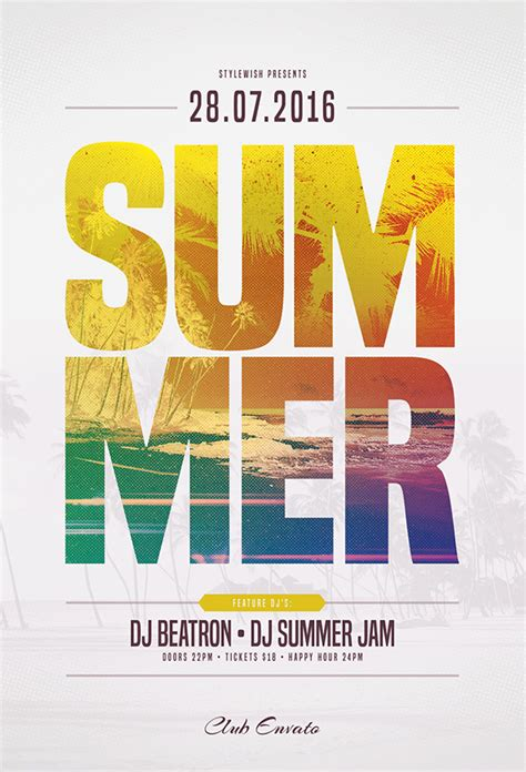 20 creative summer flyers poster designs graphics design freebies free fonts
