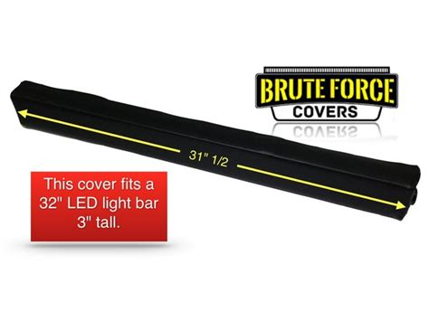 Led Light Bar Covers by 32 Inch Row Led Light Bar Cover Brute