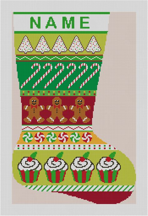 christmas treats   personalized needlepoint