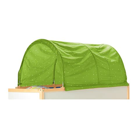ikea kura bed tent green with white dots fits ikea kura