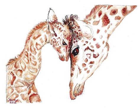 baby  mother giraffecuutee cutie animalsawwwww