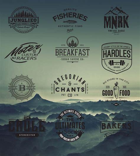 retro logo  badges cafe hipster vector