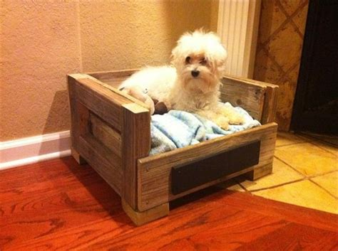 diy pallet wood pet bed pallet furniture plans