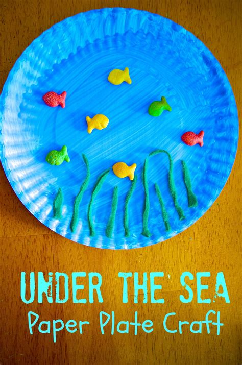 the sea paper plate craft paper plate crafts 491 | 4525e76d657aed1940e2953119ead7ca