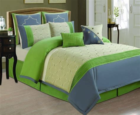 blue  green bedding sets lime green greyblue
