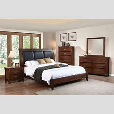 Noble Rustic Oak Platform Bedroom Set From Coaster
