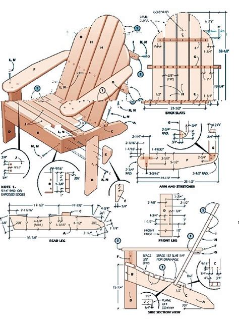 images  adirondack chair plans  pinterest
