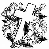Coloring Cross Pages Crosses Easter Roses Rose Flowers Drawing Printable Stained Glass Sheet Celtic Mandala Getcolorings Getdrawings Printables Cool Adult sketch template