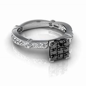 cheap real wedding rings with black and white diamonds for With real gold wedding rings for cheap