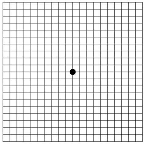 Dot eye chart vision test