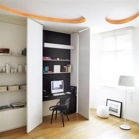 cachee bureau 5 astuces déco pour cacher un bureau dans un placard