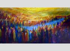Crossing Over the Jordan River Matot Art Parshah