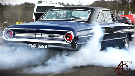 How Muscle Cars Leave A Car Show In The Wet