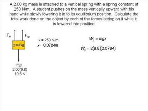 work energy theorem kinetic energy2 animated physics problems solved youtube