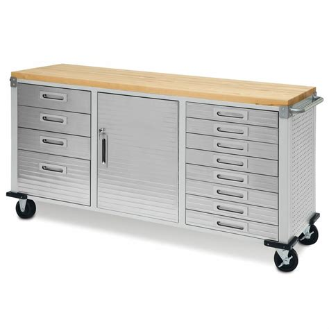 garage rolling metal steel tool box storage cabinet wooden