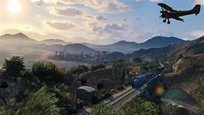 Gta 4k Grand Landscape Theft Train Beauty