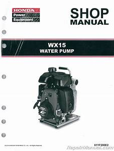 Honda Wx15 Water Pump Shop Manual