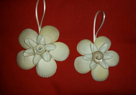 seashell flower christmas ornament seashell christmas