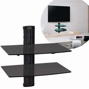 Etagere Pour Tv : support mural tv avec etagere achat vente support mural tv avec etagere pas cher cyber ~ Teatrodelosmanantiales.com Idées de Décoration