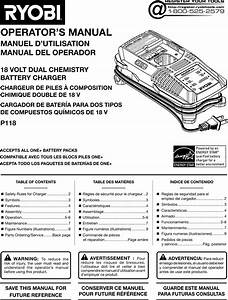 Ryobi P118 Owner S Manual