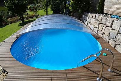 Pool Abdeckung Poolcover Ueberdachung Schwimmbad
