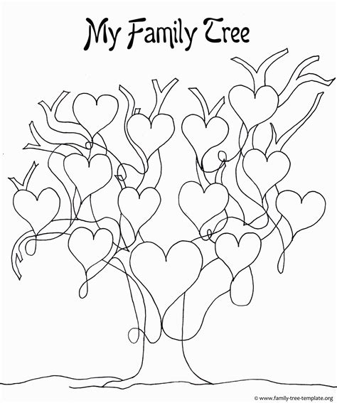 family tree coloring page newcomer class ideas blank