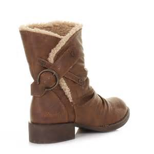 womens flat ankle boots canada womens blowfish kika whiskey fleece lined casual flat ankle boots size 3 8 ebay