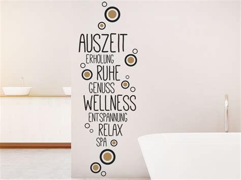 Wandtattoo Harmonische Auszeit Fürs Bad Wandtattoosde