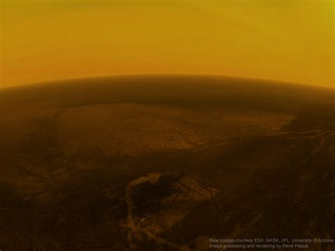 Titan S by Renderings Of Huygens Descending To Titan