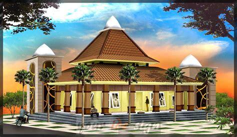 model desain masjid minimalis modern unik terbaru