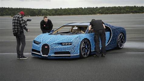 lego technic creates bonkers life size drivable bugatti