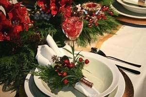 Christmas Table Decorations Setting