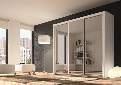 Mirrored Wardrobe by Bergen 3 Door Sliding Wardrobe With Mirrored Doors For 163
