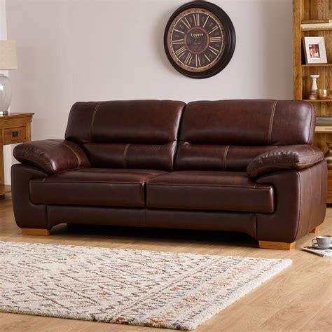 clayton  seater sofa  brown leather oak furniture land