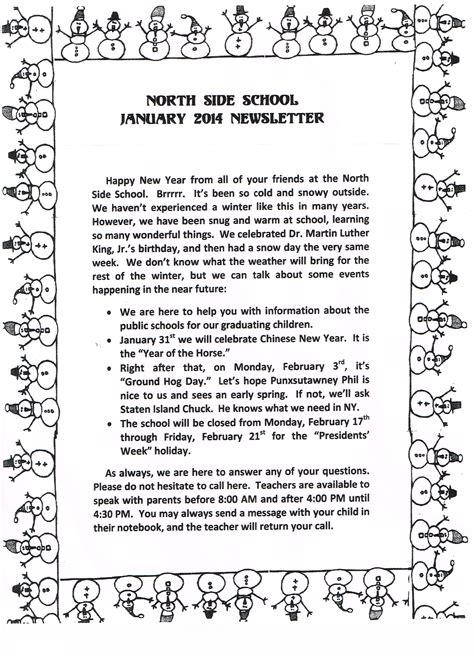 newsletters 171 parsons pre school 305 | JAN 14 NEWSLETTER