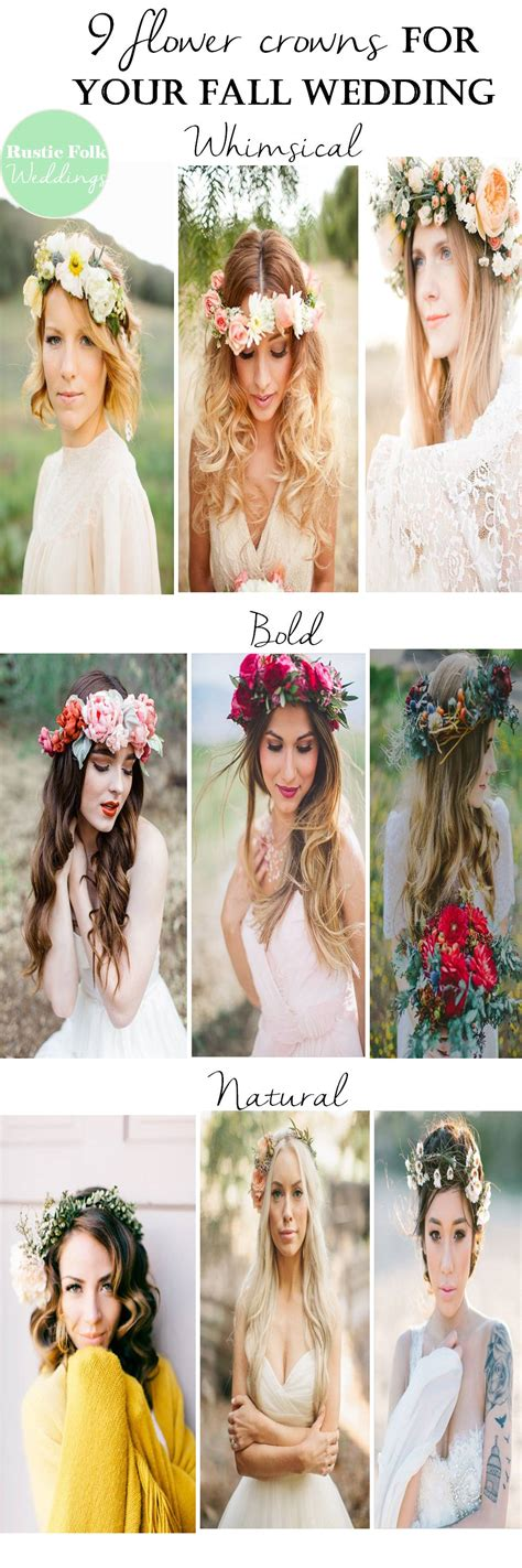 9 Flower Crowns For Your Fall Wedding Rustic Folk Weddings