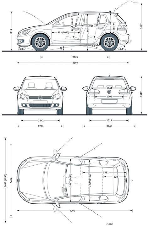 dimension chassis golf vi 5 portes