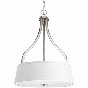 Progress lighting seeded glass collection light brushed