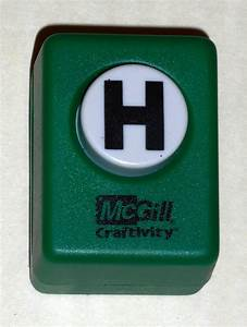 Sold out mcgill craftivity paper punch letter h upper case for Letter paper punch