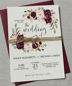 marsala wedding invitation suite burgundy pink bohemian With burgundy wedding invitations online