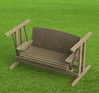free standing swing Free Standing Porch Swing Woodworking Plans - Easy to Build - Paper Plans Only | eBay