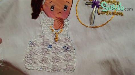 bordado fantasia para servilletas de primera comuni 243 n paso 1