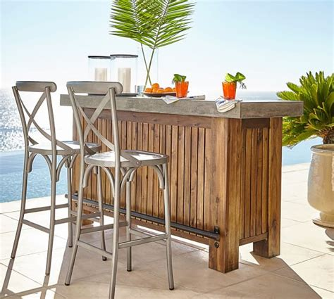 Outdoor Bar Furniture by Abbott Ultimate Bar Brown Pottery Barn